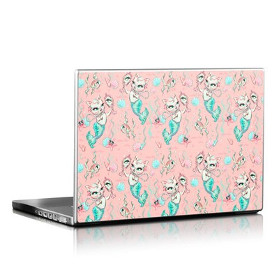 Laptop Skin - Merkittens with Pearls Blush