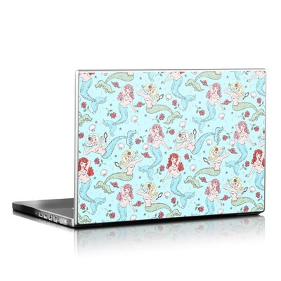 Laptop Skin - Mermaids and Roses