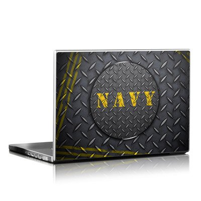 Laptop Skin - Navy Diamond Plate