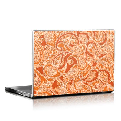 Laptop Skin - Paisley In Orange