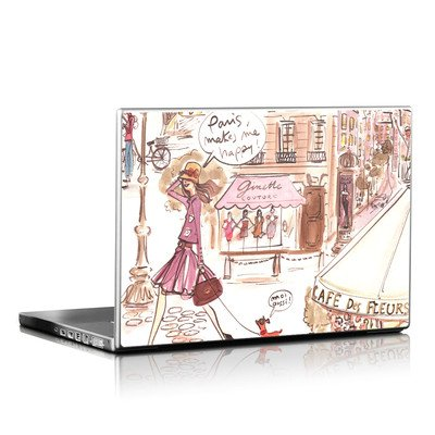 Laptop Skin - Paris Makes Me Happy