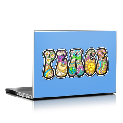 Laptop Skin - Peace Text