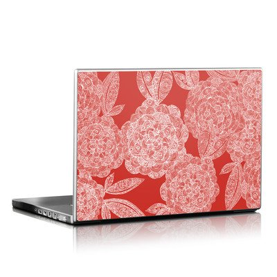 Laptop Skin - Red Dahlias