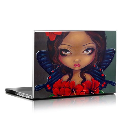 Laptop Skin - Red Hibiscus Fairy