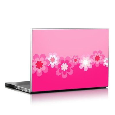 Laptop Skin - Retro Pink Flowers