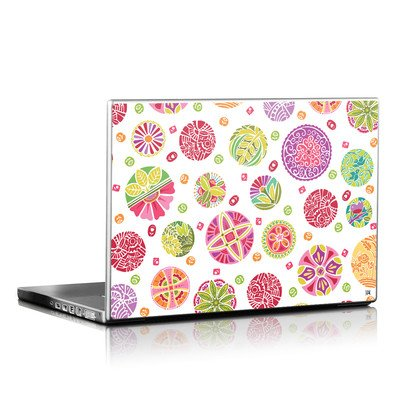 Laptop Skin - Round Flowers