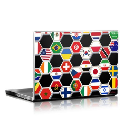Laptop Skin - Soccer Flags