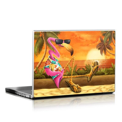 Laptop Skin - Sunset Flamingo