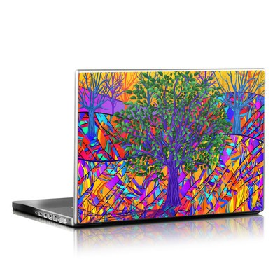 Laptop Skin - Stained Glass Tree