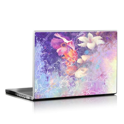 Laptop Skin - Sketch Flowers Lily