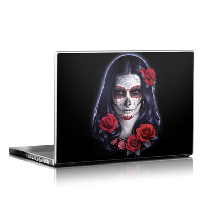 Laptop Skin - Sugar Skull Rose
