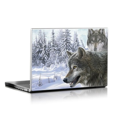 Laptop Skin - Snow Wolves