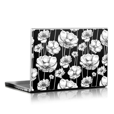 Laptop Skin - Striped Blooms