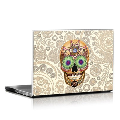 Laptop Skin - Sugar Skull Bone