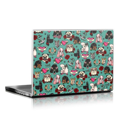 Laptop Skin - Tattoo Dogs