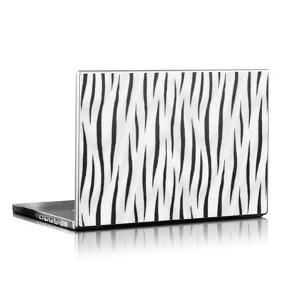 Laptop Skin - White Tiger Stripes