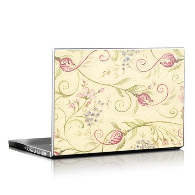 Laptop Skin - Tulip Scroll