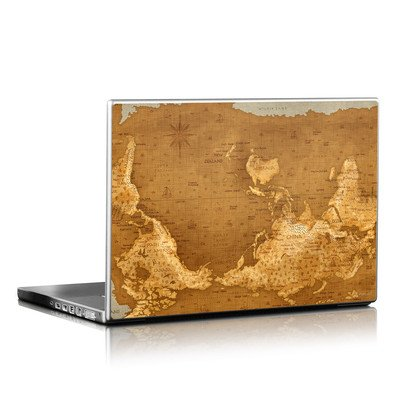 Laptop Skin - Upside Down Map
