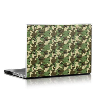 Laptop Skin - Woodland Camo
