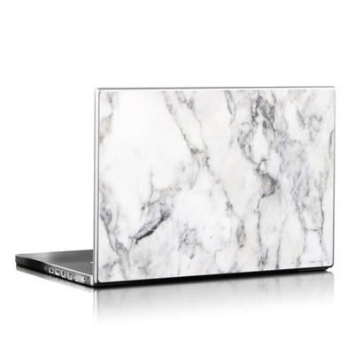Laptop Skin - White Marble