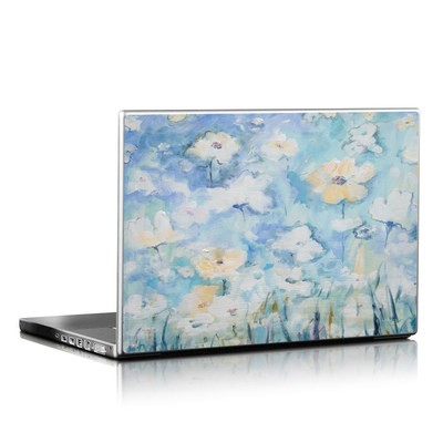 Laptop Skin - White & Blue