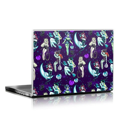 Laptop Skin - Witches and Black Cats