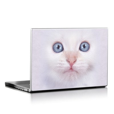 Laptop Skin - White Kitty