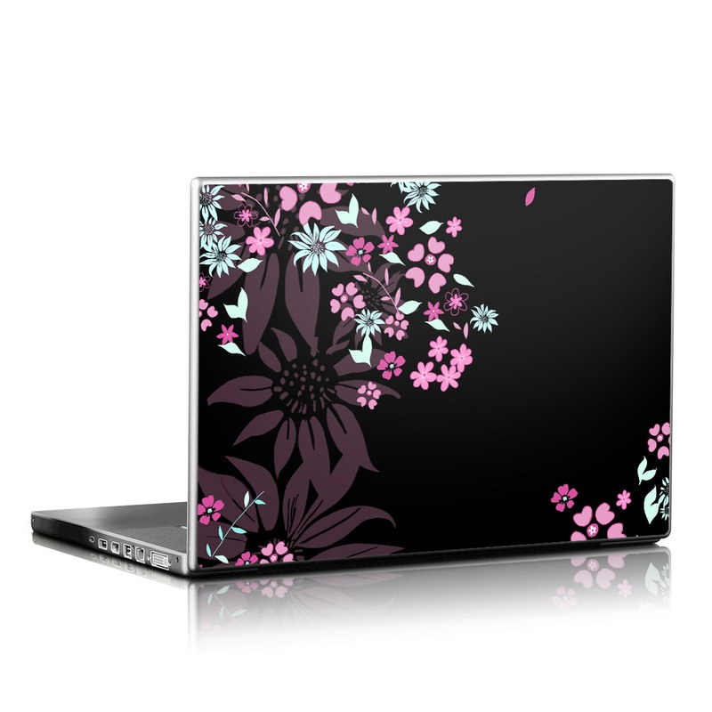 Automotive Paint Colors >> Laptop Skin - Dark Flowers by Kate Knight | DecalGirl