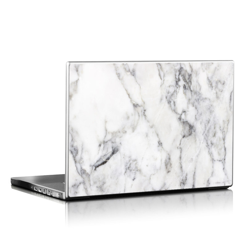 Laptop Skin White Marble By Marble Collection Decalgirl