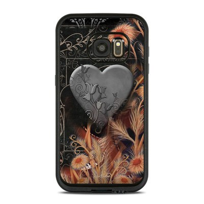 Lifeproof Galaxy S7 Fre Case Skin - Black Lace Flower