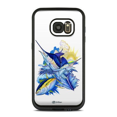 Lifeproof Galaxy S7 Fre Case Skin - Blue White and Yellow