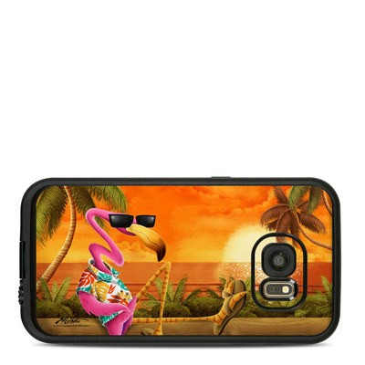Lifeproof Galaxy S7 Fre Case Skin - Sunset Flamingo