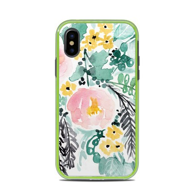 Lifeproof iPhone X Slam Case Skin - Blushed Flowers