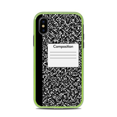 Lifeproof iPhone X Slam Case Skin - Composition Notebook