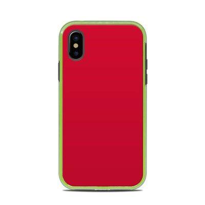 Lifeproof iPhone X Slam Case Skin - Solid State Red