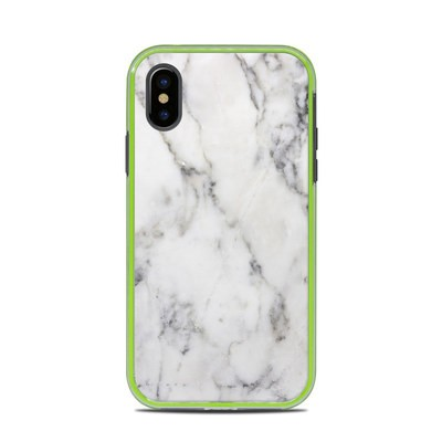 Lifeproof iPhone X Slam Case Skin - White Marble