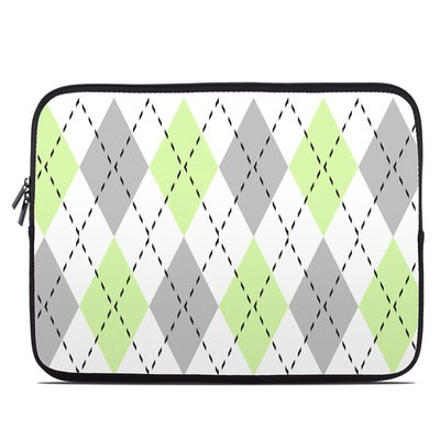 Laptop Sleeve - Mint Argyle