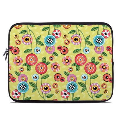 Laptop Sleeve - Button Flowers