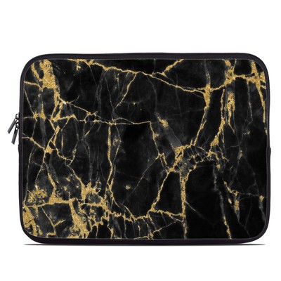Laptop Sleeve - Black Gold Marble