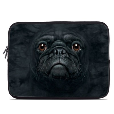 Laptop Sleeve - Black Pug