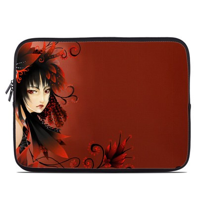 Laptop Sleeve - Black Flower