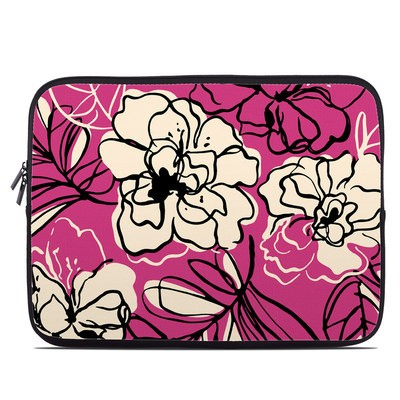 Laptop Sleeve - Black Lily