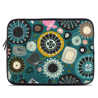 Laptop Sleeve - Blooms Teal