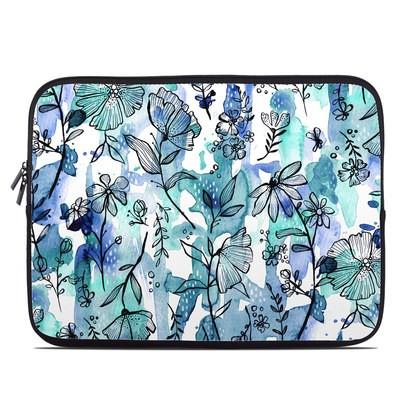 Laptop Sleeve - Blue Ink Floral