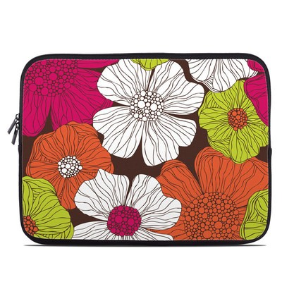 Laptop Sleeve - Brown Flowers
