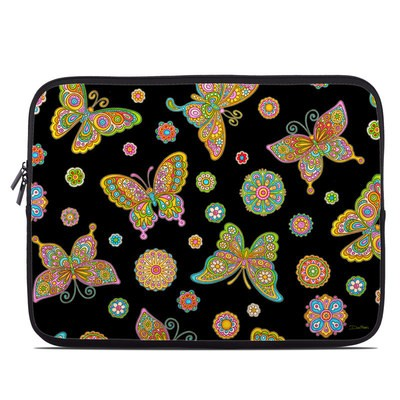 Laptop Sleeve - Butterfly Flowers
