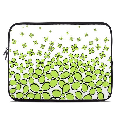 Laptop Sleeve - Daisy Field - Green