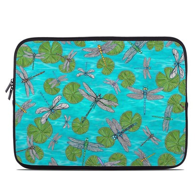Laptop Sleeve - Dragonflies Over Pond