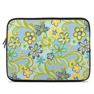 Laptop Sleeve - Hippie Flowers Blue