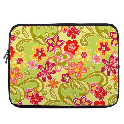 Laptop Sleeve - Hippie Flowers Hot Pink